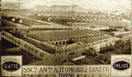 L'usine Diatto à Turin, les débuts de Giovanni Bertone