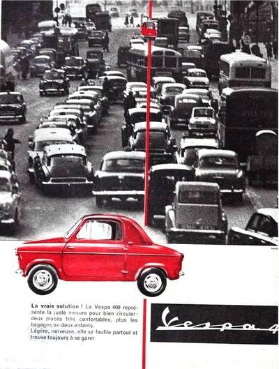 Vespa 400 - pub 1960