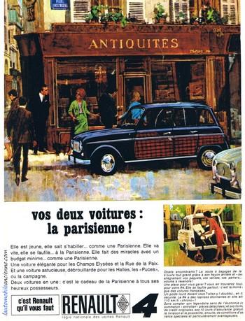 Renault R4 Parisienne publicité
