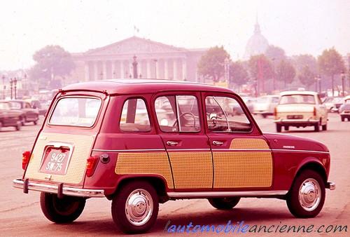 Renault R4 Parisienne rouge