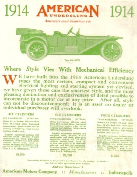 American Underslung 1914 models