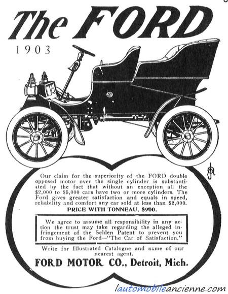 Ford A - publicité 1903