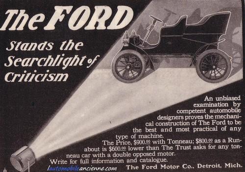 Ford A - publicité 1904