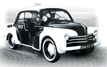 Renault 4CV Police pie (6)