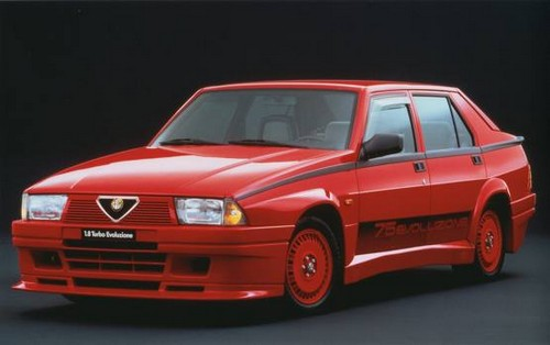 alfa romeo 75 turbo evoluzione 1987 l 39 automobile ancienne. Black Bedroom Furniture Sets. Home Design Ideas
