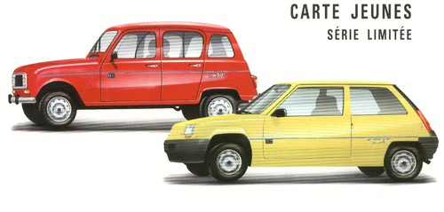 Renault 4 et Supercinq Carte Jeune (3)