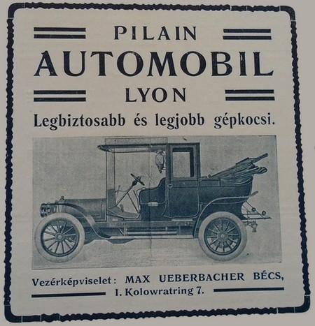 PILAIN pub 1907 (hongrie)