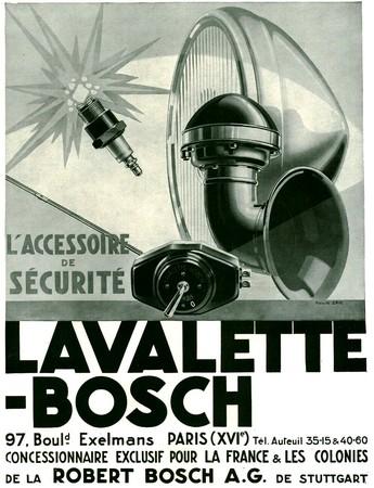 Lavalette-Bosh - publicite 1931