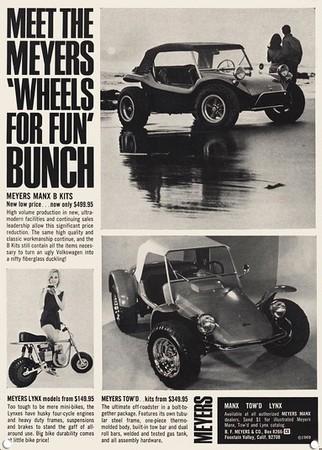 1969 - publicité Meyers Manx