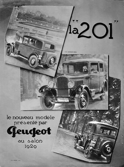 PEUGEOT 201 1929 - publicité 02