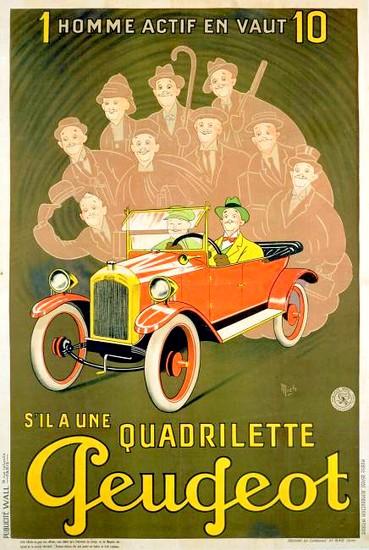 PEUGEOT QUADRILETTE - affiche 001